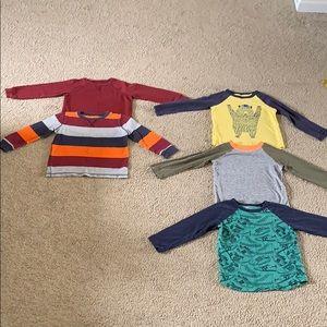 Boys Gymboree Long Sleeve Shirt Bundle size 4